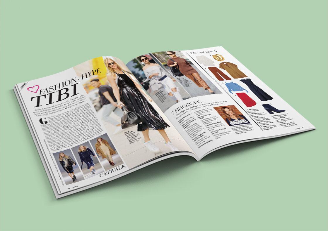 INTOUCH STYLE Magazin aufgeschlagen